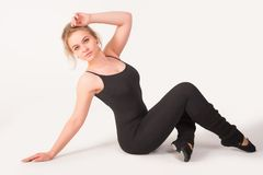 Flexible athletic woman Royalty Free Stock Photo