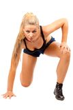 Fit young woman doing workout Stock Photo