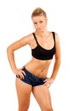 Fit young woman doing workout Stock Photography