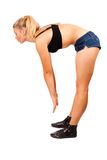 Fit young woman doing workout Royalty Free Stock Images