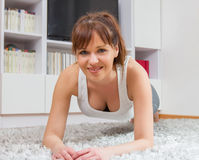 Fit Young Woman Exercising Healthy Lifestyle Stock Photography