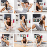 Fit Young Woman Exercising Healthy Lifestyle Stock Image