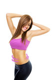 Fit Young Woman With Slim Abdomen Diet Concept Royalty Free Stock Images