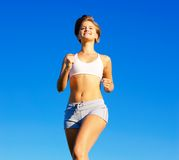 Fit Young Woman Working Out Royalty Free Stock Image