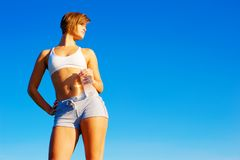 Fit Young Woman Working Out Royalty Free Stock Images