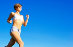 Fit Young Woman Working Out Royalty Free Stock Photo