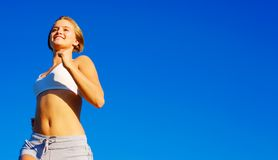 Fit Young Woman Working Out Stock Images