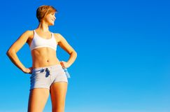 Fit Young Woman Working Out Stock Image