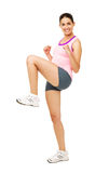 Fit Young Woman Zumba Dancing Royalty Free Stock Image
