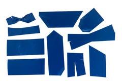 Fita adesiva azul Fotografia de Stock Royalty Free