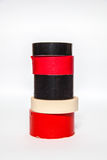 A fita adesiva do od de diversos rolos grava cores diferentes imagem de stock royalty free
