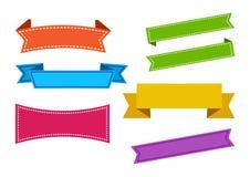 Fita ajustada colorida Bandeiras das fitas Vetor ilustração do vetor