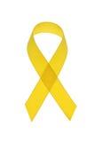 Fita amarela da consciência do cancro foto de stock