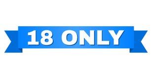 Fita azul com SOMENTE subtítulo 18 ilustração do vetor
