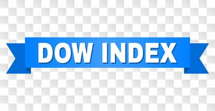 Fita azul com título do ÍNDICE do DOW ilustração royalty free