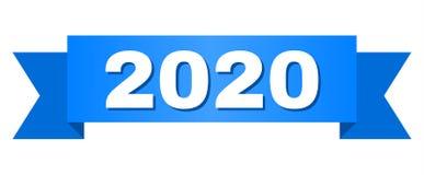 Fita azul com texto 2020 ilustração royalty free