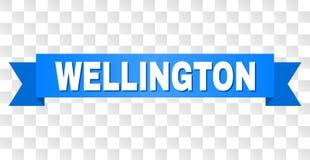 Fita azul com WELLINGTON Title ilustração royalty free