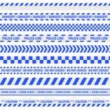 Fita azul da polícia ilustração stock