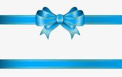Fita azul e curva Fotos de Stock Royalty Free
