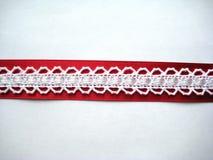 Fita branca em um vermelho Foto de Stock Royalty Free