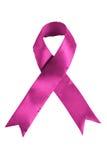 Fita colorida cor-de-rosa da consciência do cancro da mama fotografia de stock