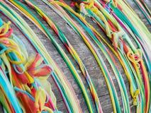 A fita colorida para reza Imagem de Stock