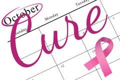 Fita cor-de-rosa da consciência do cancro da mama Foto de Stock Royalty Free