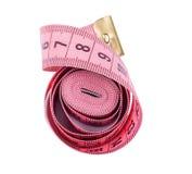 Fita cor-de-rosa da medida Imagens de Stock Royalty Free
