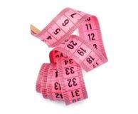 Fita cor-de-rosa da medida Fotografia de Stock