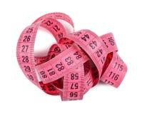 Fita cor-de-rosa da medida Fotos de Stock Royalty Free