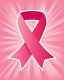 Fita cor-de-rosa do câncer da mama ilustração do vetor