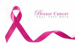 Fita cor-de-rosa do cancro da mama Fotografia de Stock