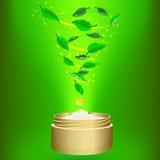 Fita crema en fondo verde libre illustration