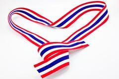 Fita da bandeira de Tailândia na forma do coração Fotos de Stock