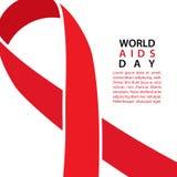 Fita da consciência do AIDS Fundo do Dia Mundial do Sida ilustração royalty free