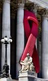 Fita da conscientização do SIDA no parlamento austríaco Fotos de Stock