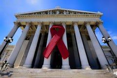 Fita da conscientização do SIDA no parlamento austríaco Foto de Stock