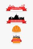 Fita da engenharia e grupo da bandeira Fotografia de Stock