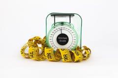 Fita da medida da escala do peso fotografia de stock