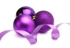 Fita da seda da esfera do Natal Imagens de Stock