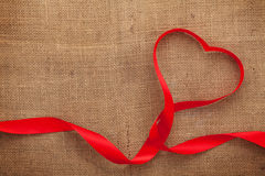 Fita dada forma coração do dia de Valentim Foto de Stock Royalty Free