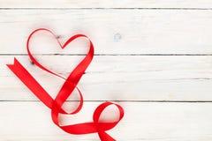 Fita dada forma coração do dia de Valentim Imagem de Stock Royalty Free