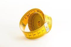 Fita de medição amarela Fotos de Stock Royalty Free