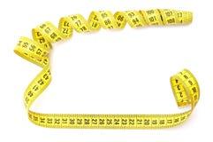 Fita de medição amarela Imagem de Stock