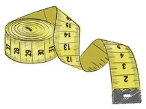 Fita de medição amarela Fotografia de Stock