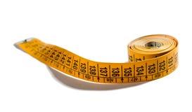 Fita de medição amarela de 60 polegadas ou 150 Cm Imagens de Stock Royalty Free
