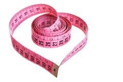 Fita de medição - coração imagens de stock