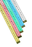 Fita de medição do alfaiate Fotografia de Stock