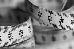 Fita de medida - preto e branco Fotos de Stock