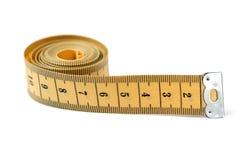 Fita de medição amarela Fotos de Stock